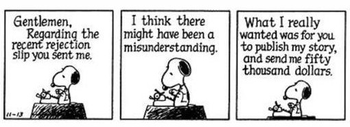 snoopy rejection letter